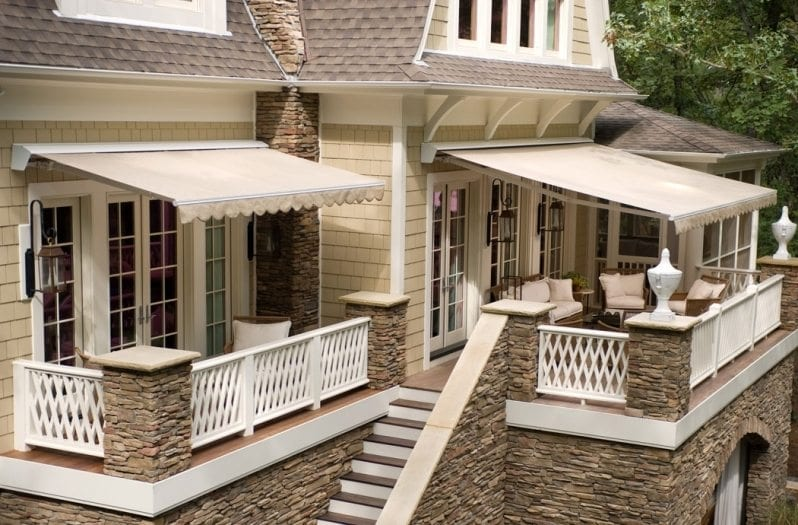 Awnings Can Create a Porch