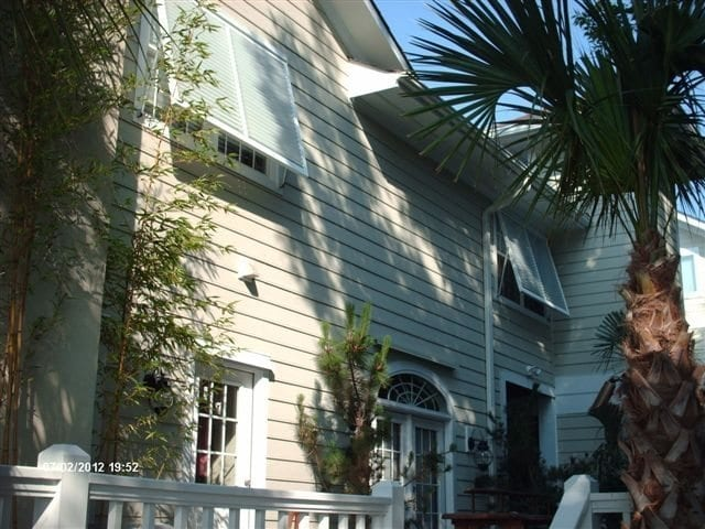 Bahama Shutters for Hurricane Protection on a Home in Wilmington