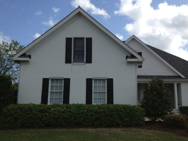 Colonial Shutters for Hurricane Protection on the Front of a Home in Wilmington