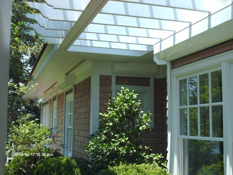 Concealed Rolldown Shutters for Hurricane Protection on a Home in Wilmington