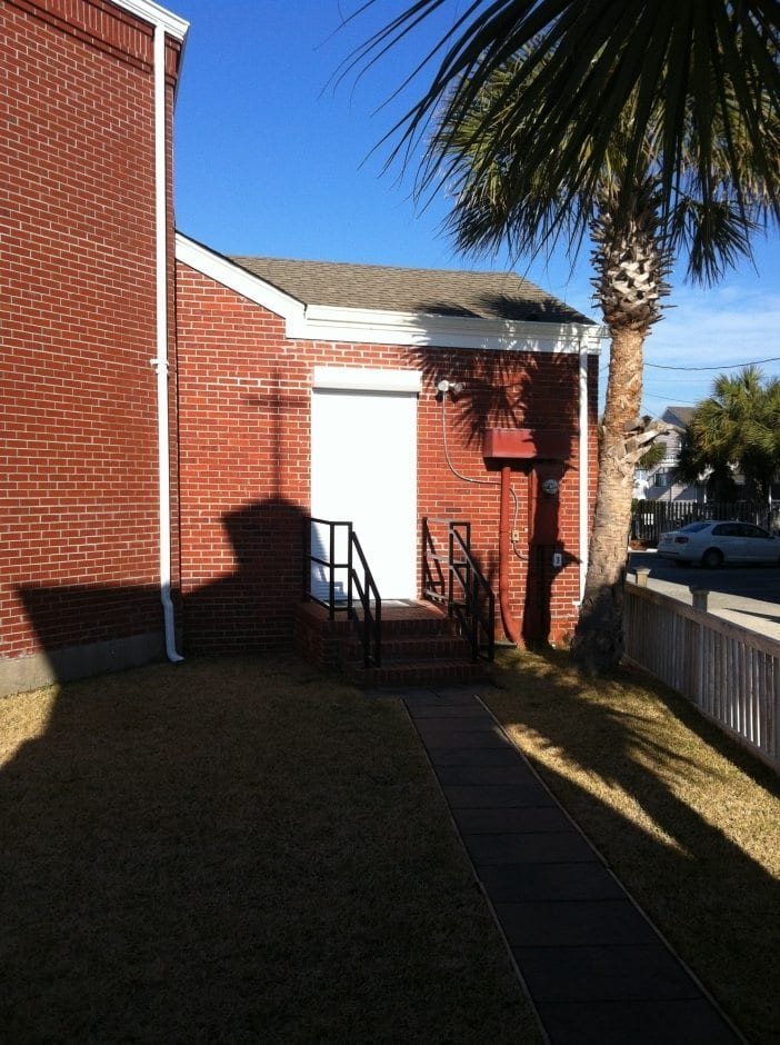 Rolldown Hurricane Shutters on Oceanfront Church on Wrightsville Beach